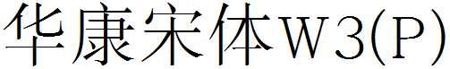 华康宋体W3(P)