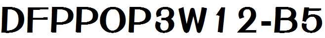 DFPOP3W12-B5