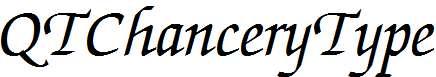 QTChanceryType-Italic