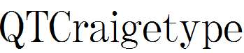 QTCraigetype-Regular