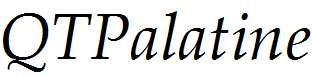 QTPalatine-Italic