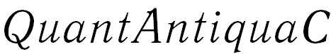 QuantAntiquaC-Italic