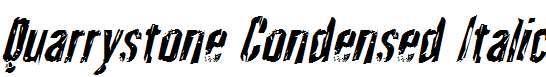Quarrystone-Condensed-Italic