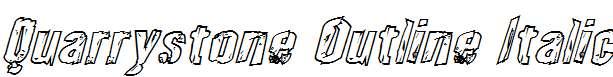 Quarrystone-Outline-Italic