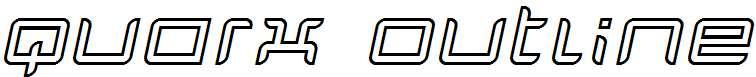 Quarx-Outline-Italic