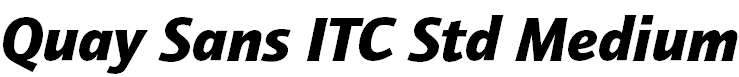 Quay Sans ITC Std Black Italic