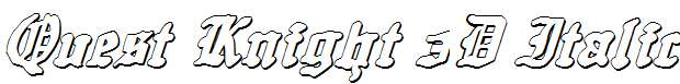 Quest-Knight-3D-Italic