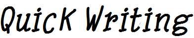 Quick-Writing-Bold-Italic