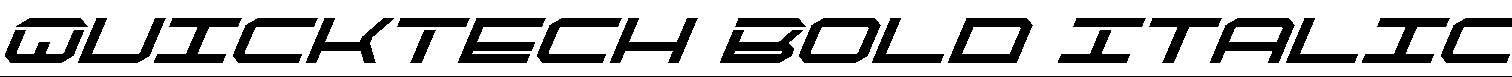 QuickTech-Bold-Italic