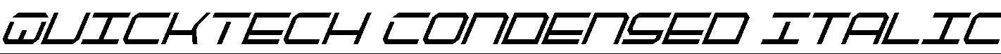 QuickTech-Condensed-Italic