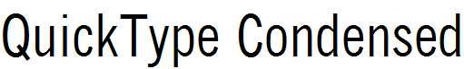QuickType-Condensed