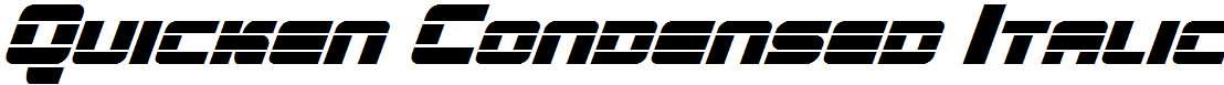 Quicken-Condensed-Italic
