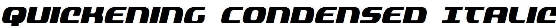 Quickening-Condensed-Italic