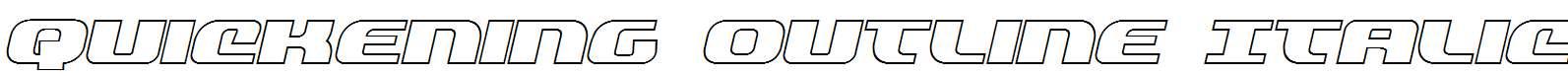 Quickening-Outline-Italic