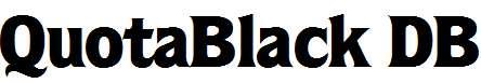 QuotaBlack-Regular-DB