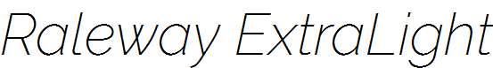 Raleway-ExtraLight-Italic
