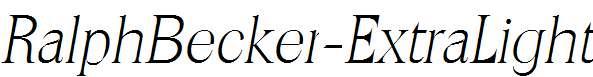 RalphBecker-ExtraLight-Italic
