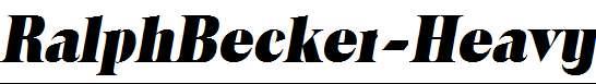 RalphBecker-Heavy-Italic
