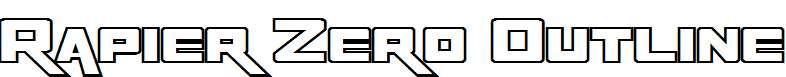 Rapier-Zero-Outline