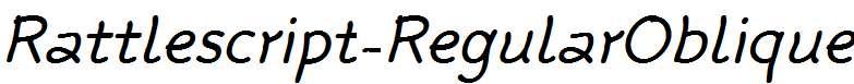 Rattlescript-RegularOblique