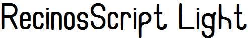 RecinosScript-Light-Regular
