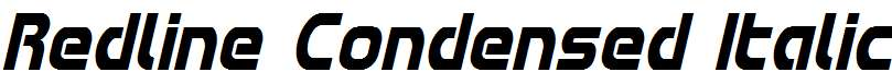 Redline-Condensed-Italic