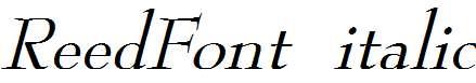 ReedFont-Italic