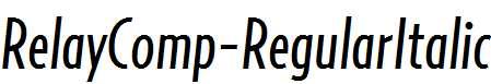 RelayComp-RegularItalic