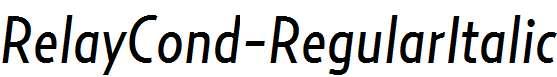 RelayCond-RegularItalic