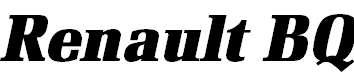 RenaultBQ-BoldItalic