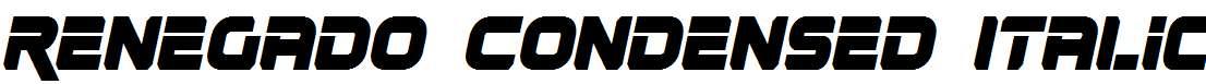 Renegado-Condensed-Italic