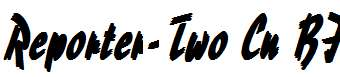 Reporter-Two-Cn-Bold-Italic