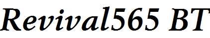 Revival565-BT-Bold-Italic