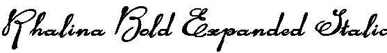 Rhalina-Bold-Expanded-Italic
