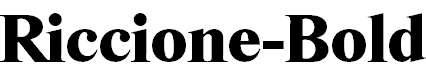 Riccione-Bold