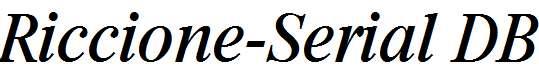 Riccione-Serial-RegularItalic-DB