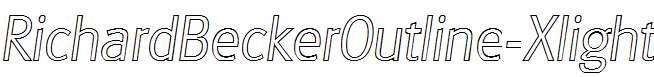 RichardBeckerOutline-Xlight-Italic