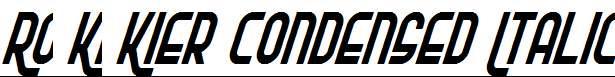 Ro-Ki-Kier-Condensed-Italic