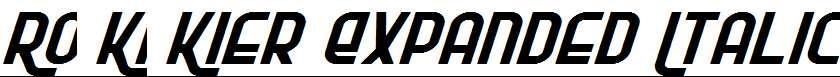 Ro-Ki-Kier-Expanded-Italic