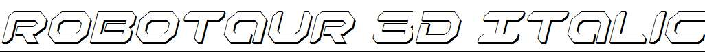 Robotaur-3D-Italic