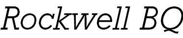 RockwellBQ-LightItalic