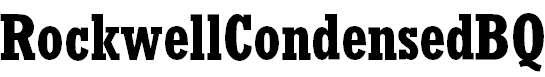 RockwellCondensedBQ-Bold