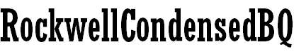 RockwellCondensedBQ-Regular