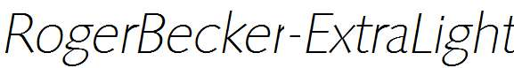 RogerBecker-ExtraLight-Italic