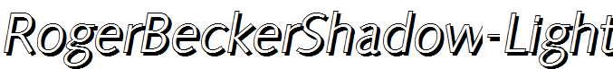 RogerBeckerShadow-Light-Italic
