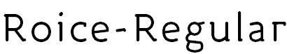 Roice-Regular