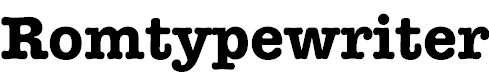 RomtypewriterBold