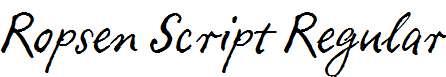 Ropsen-Script-Regular