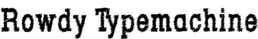 RowdyTypemachine-CondensedBold