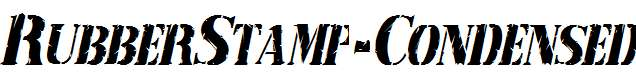 RubberStamp-Condensed-Italic